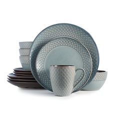 Full of dimension and style, this Food Network dinnerware gives a new look to mealtime. Fire Pit Coffee Table, Wicker Coffee Table, Outdoor Deep Seat Cushions, Devon Cottages, Umbrella Lights, Cushions For Sale, Rug Sale, Dinnerware Sets, Cereal Bowls