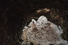 This cave is an amazing location for this Iceland vow ceremony! Photo Credit: Photo Credit: http://nordicaphotography.com/. From http://greenweddingshoes.com/an-intimate-vow-reading-in-iceland-christina-patrick/.