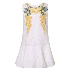 Embroided Floral Summer Dress