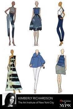 Kimberly Richardson - Collection Board // Art Institutes New York Fashion Week // AW '16