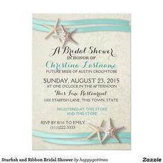 Starfish and Ribbon Bridal Shower