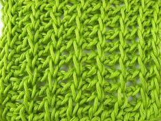 Tunisian Crochet - Seven Dwarfs - Ajourmuster (IN GERMAN - If you are familiar with Tunisian Crochet you can watch this video to learn this stitch... The video is very good... Deb)