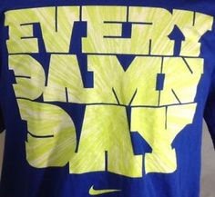 Nike T-Shirt XL Mens Every Damn Day Graphic Blue