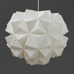 FOLDABILITY Leah pendant origami lampshade lighting design 2