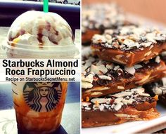 Indulge that sweet tooth with Starbucks Almond Roca Frappuccino! #starbuckssecretmenu Recipe here: http://starbuckssecretmenu.net/almond-roca-frappuccino-starbucks-secret-menu/