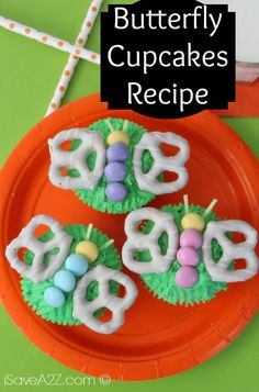 Butterfly Cupcakes Recipe - time to start planning Easter Dinner and the treats for the kiddos.
