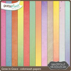 Grow in Grace Colorwash Papers :: Paper Packs :: Packs :: Gotta Pixel Digital Scrapbook Store by Seatrout Scraps $2.00