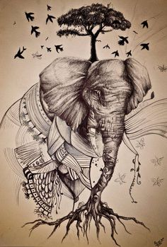 elefante-árbol-historia.