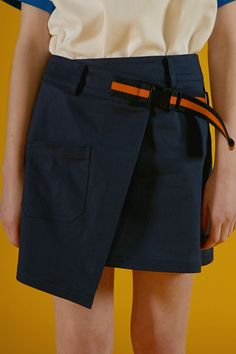 Belted wrap skirtnavy - ader