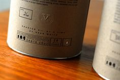 hand numbered packaging with blind emboss - verve coffee