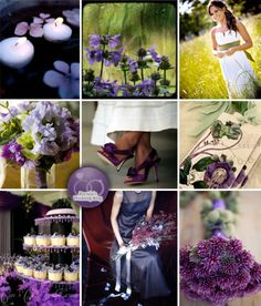 Great lavender and green wedding
