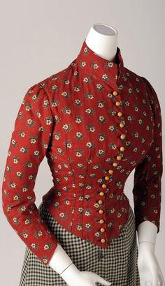 Simple day dress ca. 1890. Photo: Christa Losta. Vienna Museum via Europeana Fashion