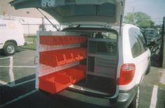 MiniVan - Extending bins and shelves
