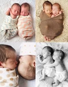 Newborn Baby Twins #PhotographyIdeas #Love #Adorable #Kids