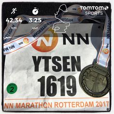 NN Marathon Rotterdam in Totterdam. 42,2 km in 3:24:56.