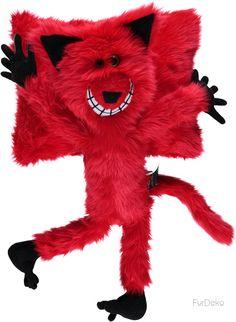 Maskotka futerkowa SZALONY KOT czerwony/Mascot fur CRAZY CAT red