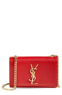 Saint Laurent 'Mini Cassandre' Crossbody Bag... Beautiful! [ Waterbabiesbikini.com ] #Fashion #bikini #elegance