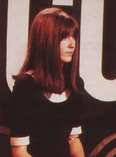 Cathy McGowan, queen of the mods, host of Ready, Steady, Go! Carol-Anne models herself on Cathy.