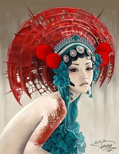 I really like the artist Carol Bak, and so I decided to dedicate this painting to him. I used a reference for the creation of this picture. To Karol Bak Foto Fantasy, Fantasy Kunst, Fantasy Art, Inspiration Art, Art Inspo, Art Asiatique, Art Japonais, Chinese Art, Japanese Art