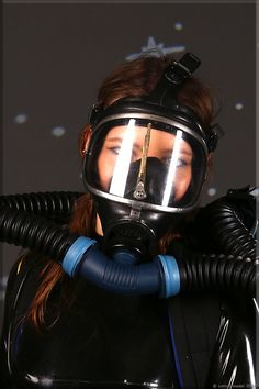 Women's Diving, Diving Suit, Scuba Diving Gear, Catsuit, Gas Mask Girl, Hazmat Suit, Dive Mask, Respirator Mask, Full Face Mask