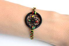 Rastafarian Dream Catcher Dreamcatcher bracelet jewelry friendship bracelet woven reggae rasta accessories jamaica inspiration