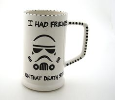 Star Wars R  Beer Stein inspired by storm trooper by LennyMud, $18.00
