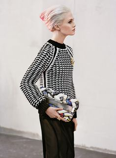 Charlotte Free in a Jil Sander sweater for T Magazine 2011 Fall Fashion issue