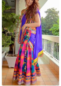 Printed half saree