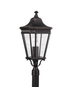 Home Solutions OL5408 Cotswold Lane 3 Light Outdoor Post Lamp   Capitol Lighting 1-800lighting.com