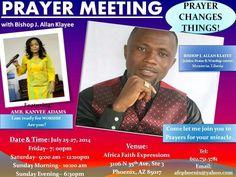 Mid-Year Prayer Meeting with Bishop Klayee