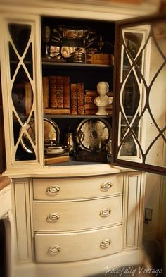 light on the outside with dark wood inside...could I do this with my hutch??