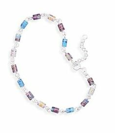 9 Inch + 1 Inch Sterling Silver Extension Millefiori Bead Anklet BillyTheTree Jewelry. $35.95. Satisfaction guaranteed. Made from solid 925 sterling silver