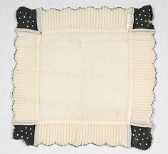 Mourning handkerchief Date: first quarter 20th century Culture: American Medium: Linen