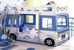 Letti per bambini a forma di macchina - Letto a castello bus