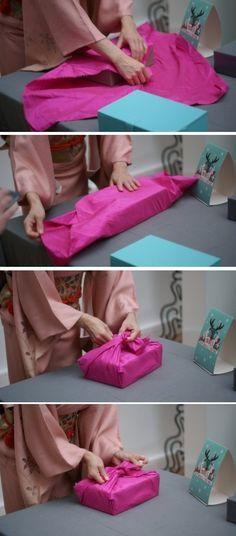 DIY - Furoshiki : un emballage de cadeau original pour la fête des pères