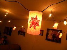"""Homemade """"Tangled"""" lanterns.  So so easy!!!"""