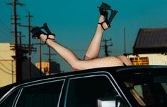 Guy Bourdin-esque: Crystal Renn by Txema Yeste for Numero China March 2012