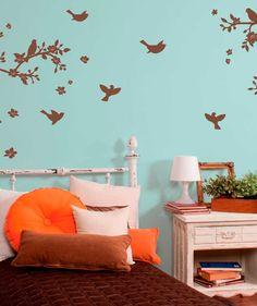 Cherry Blossom 1 Tinta (Flor de cerezo) - Vinilo Adhesivo, decoración de paredes. $59.900 COP. Encuentra más vinilos adhesivos en www.giferent.com/vinilos-decorativos-adhesivos