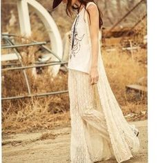 I just added this to my closet on Poshmark: Spell & the Gypsy crochet duster sweater vest boho. Price: $275 Size: OS