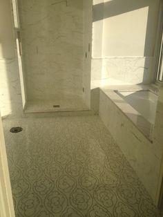 TubSurround detailing of tile work.