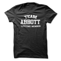 Team Name ABBOTT lifetime member Personalized Custom T- T Shirt, Hoodie, Sweatshirt