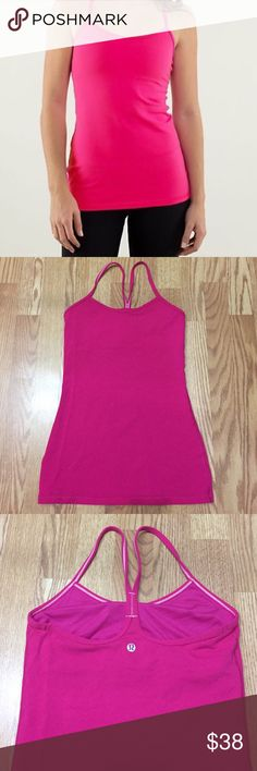 lululemon Power Y Tank Like new! Cups included. My pictures more accurately displays color. lululemon athletica Tops Tank Tops