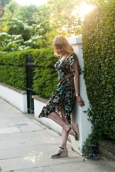 Let Me Take You By The Hand... Day To Night Dresses, Day Dresses, Casual Dresses, Fashion Dresses, Ralph Mctell, I Dress, Wrap Dress, Leopard Espadrilles, Smart Dress