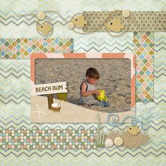 Fun layout by Sue G from Australia using Playa del Mar by @theautumnowl http://www.mymemories.com/store/product_search?term=Play+del+Mar #aodlayout #digiscrap #beach #water #scrapbooking #scrapbook #digitalscrapbooking