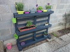 Étagère pots de fleurs / Pallet Wall Planter   1001 Pallets