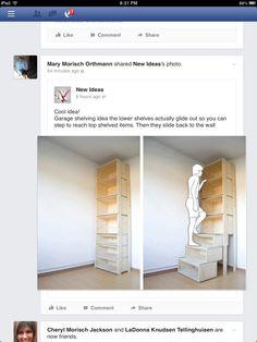 Storage shelves for garage!