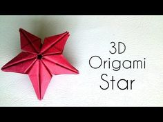 Tutorial on Origami Dominanta Star designed by Ekaterina Lukasheva . This Liberty Origami Star is easy an. Origami 3d Star, 3d Origami Swan, Origami Cube, Origami Envelope, Origami And Kirigami, Modular Origami, Origami Flowers, Origami Tutorial, Origami Easy
