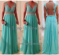 A-line V-neck Sleeveless Floor-length Chiffon Fashion Long Prom Dresses / Evening Dresses / Party Dresses2014  New Arrival With Sash Lace