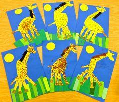 ADORABLE! Art with Mr. Giannetto: Kindergarten Giraffes