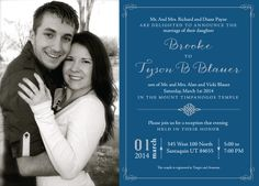 136 Best Lds Wedding Invitations Images Wedding Announcements